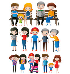 Family members of different generations vector