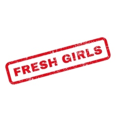 Fresh Girls Text Rubber Stamp vector image