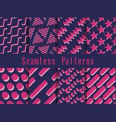 geometric seamless pattern set geometric figures vector image