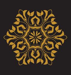 Golden pattern on black background vector