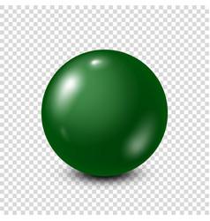 Green lottery billiardpool ball snooker vector