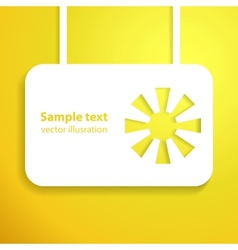 Holiday yellow sun applique background vector image