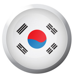 Isolated flag of south korea vector