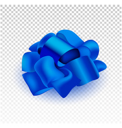present silk bow 3d realistic iilustration vector image vector image