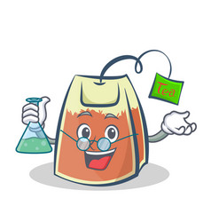 Professor tea bag character cartoon art vector