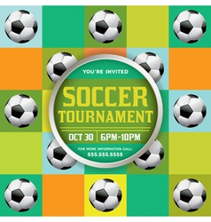 Soccer Tournament Pattern vector image vector image