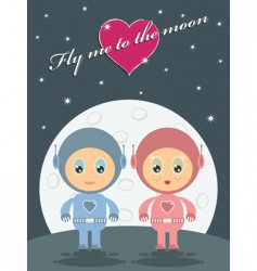 space love vector image
