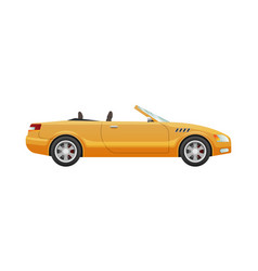 Transport picture of isolated yellow cabriolet vector