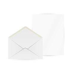 white envelope and paper vector image vector image