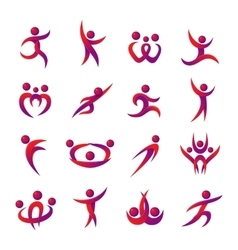 Abstract people silhouette icon vector