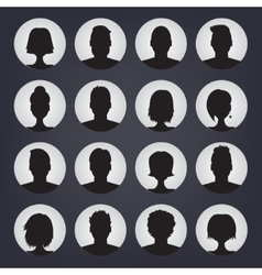 Icons set of people stylish avatars for profile vector