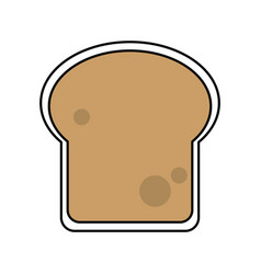 Sketch color silhouette slice of bread vector