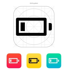 Little charge battery icon vector