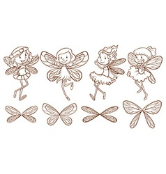 Simple sketches of a fairy vector