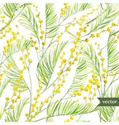 Mimosa pattern vector image
