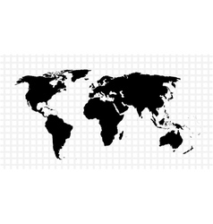 Black map of the world vector