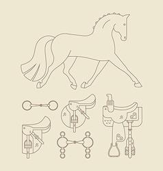 Horse Gear vector image