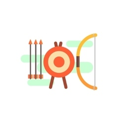 Archery playing set vector