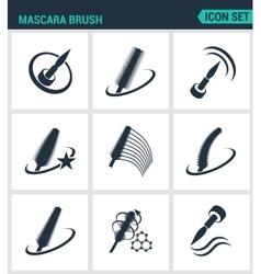 Set of modern icons mascara brush mascara vector