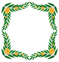 A green leafy border with flowers vector