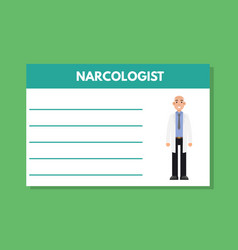 about doctor narcologist template medical vector image vector image