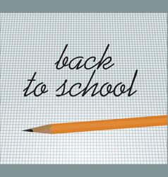 Back to school notice vector