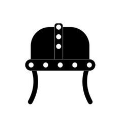 Black icon on white background ancient helmet vector
