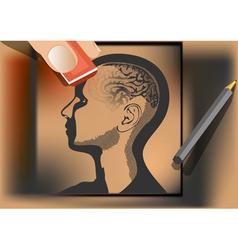 brain wash vector image