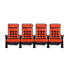 cinema chairs isolated vector image vector image