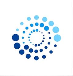 circle dot technology logo vector image