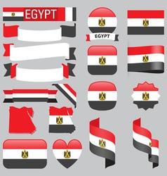 Egypt flags vector