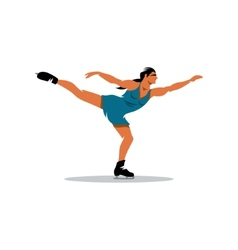 Figure skating sign vector image vector image