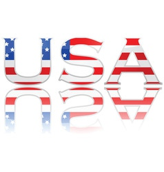 flag in letters USA vector image vector image