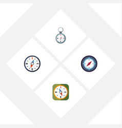 flat icon direction set of compass direction vector image vector image