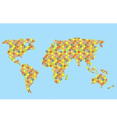 Funny world map for kids vector image