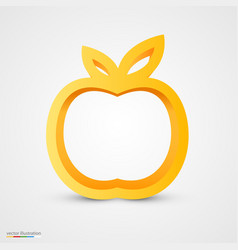 Gold apple icon vector