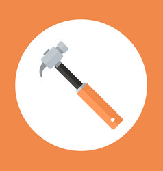 Hammer icon working hand tool equipment concept vector