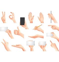 hands set vector image vector image