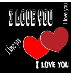 Heart two with quote I love you vector image