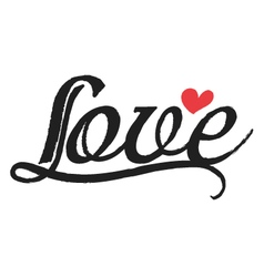 Love curve line brush vector