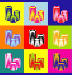 money sign pop-art style vector image