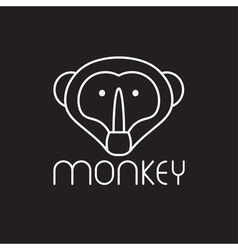 monkey design template vector image