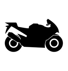 Motorcycle black color icon vector