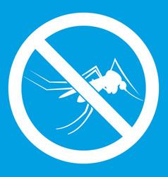 No mosquito sign icon white vector