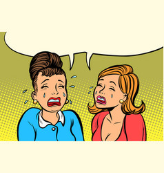 sad girlfriends women cry vector image vector image