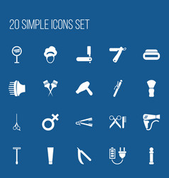 Set of 20 editable coiffeur icons includes vector