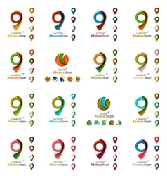 Set of modern circle globe or sphere logo concept vector image
