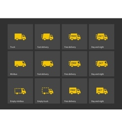 Shipments and free delivery icons vector image vector image