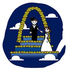 skeleton wedding vector image vector image