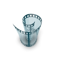 Spiral of film strip vector image